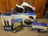 Brand new PS VR bundle with Ps move controllers, PS camera and 1 game