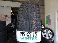 "**SALE***CHEAP 15"" WINTER TYRES MOST SIZES AVAIL £35 EACH SUP & FITD OR £120 SET OF 4 TXT SIZE TO"