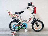 "(2560) 12"" APOLLO LULU Boys Girls Kids Childs Bike Bicycle + STABILISERS Age: 3-4; Height: 90-105 cm"