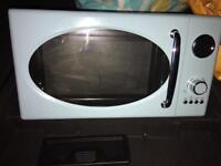 Duck egg blue microwave