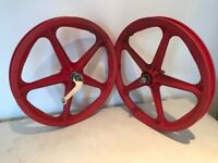 Skyway tuff 1 wheels red bendix 16 mexico coster break old school bmx 1976 F + R Haro Gt Hutch Araya