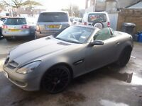 Stunning Mercedes Benz SLK 200 Kompressor Auto,1796 cc convertible,FSH,wrapped in matt grey/black