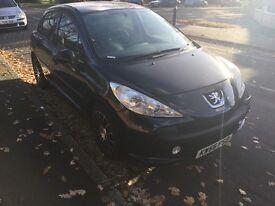 Peugeot 207 1.4 petrol s 5 door hatchback long mot