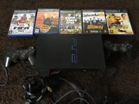 PlayStation 2, 2 x controllers plus games