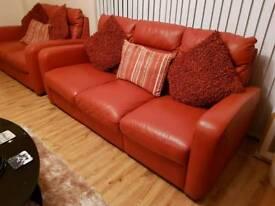 Beautiful Italian leather sofas.