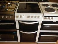 White 50cm electric cooker