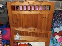 Child's wooden cotbed