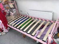Single bed frame pink