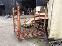 Metal steel heavy duty crates