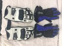 2 pairs Motorcycle gloves
