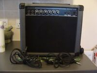 ROCKET 20B BASS AMP, LEADS AND BOOK