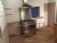 Baumatic Stainless steel oven, hob, extractor and splashback