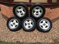 1985 Classic Revolution 4 spoke alloys with Goodyear NCT tyres
