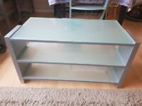 **NOW SOLD** Glass/wood TV stand for sale
