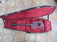 BC Rich Mockingbird ST Guitar Trans Red with Warwick Casket Case