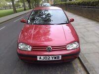 Volkswagen golf year (2002) perfect running long mot bargain £395