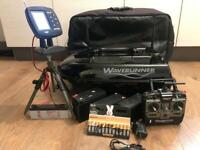 Waverunner mk4 bait boat & echo sounder carp fishing