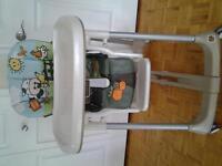 Chaise haute Peg Perego (negociable)