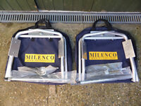 Milenco aluminum levellers caravan motorhome camper with carrycase and ratchet spanner, £65