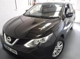 NISSAN QASHQAI 1.2 DiG-T Acenta 10,OOO MILES ONE OWNER IN BEAUTIFULL CONDITION (black) 2014