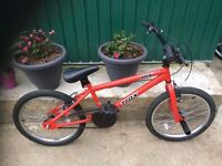 "BOYS KIDS CHILDREN TRAX BMX 20"" WHEEL WITH STUNT PEGS RED BMX BIKE BICYCLE"