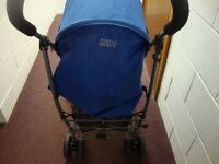 New Mamas & Papas Swirl Blue Pushchairs Single Seat Stroller with rain cover