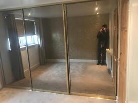 Sliding mirror wardrobe