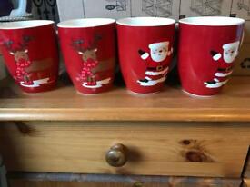 Christmas Decorations & Cups.