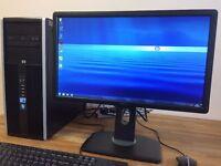 "Gaming PC HP Elite / i5 / 8GB Ram / 2TB / NVIDIA Quadro 2000 + 22"" Monitor Desktop Computer PC"