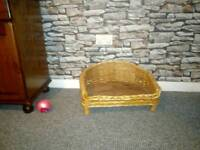 Small whicker dog bed