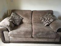 Sofa, 2 armchairs & foot stool