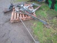 Loader brackets for case tractor