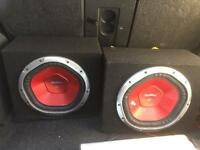 2400W Sony Xplod subs with powerful AMP