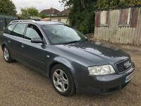 Audi A6 1.9 TDI SE 1871cc Turbo Diesel 6 speed manual 5/7 seats estate 03 Plate 31/03/2003 Grey