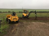 JW Agri and Plant Hire specialising in all aspects of fencing and Plant Hire self drive or operated