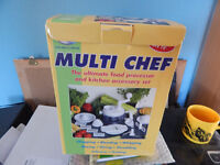 j.m multichef food processor never used no electric or battery required