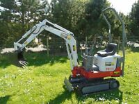 Takeuchi TB 108 TB108 micro doorway mini digger, new tracks, serviced, 2007