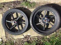 Honda cbr125 front and rear wheels