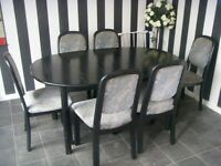 6 dining chairs black