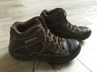 CATERPILLAR MENS' BOOTS - SIZE 8/42 BROWN LEATHER