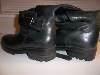 Mission Leather Biker Boots - Good condition Size 6 - 7