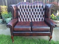 Beautiful Queen Anne Chesterfield 2 Seater Sofa