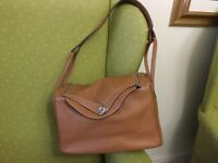 Quality tan leather bag/hand luggage, great price £110