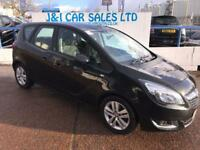 VAUXHALL MERIVA 1.4 LIFE 5d 99 BHP A GREAT EXAMPLE INSIDE AND OUT (black) 2015