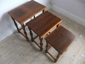 Nest of small wooden tables