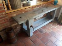 Large vintage workbench/kitchen island table