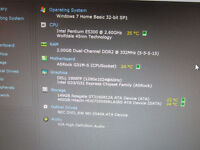Custom Build Intel Pentium Dual Core 2.60 GHz 2GB RAM 660GB HDD PC Desktop Computer Only