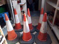 1m (3ft) High, Heavy Traffic Cones x 2