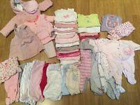 REDUCED - BABY GIRL NEWBORN (0-3 MONTHS) BUNDLE
