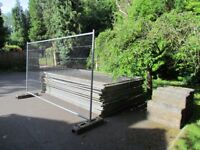 Heras fencing. 24 panels, thirty feet, 60 couplers. £200